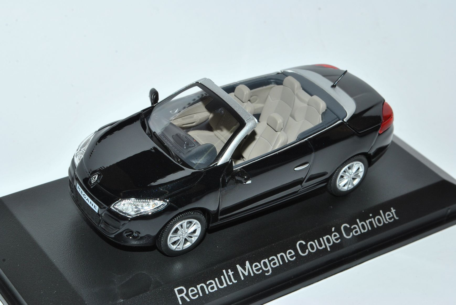 Renault Megane III III III cabriolet coupé noir ouverte à partir de 2008 1 43 NOREV modèle voiture M.. c05390