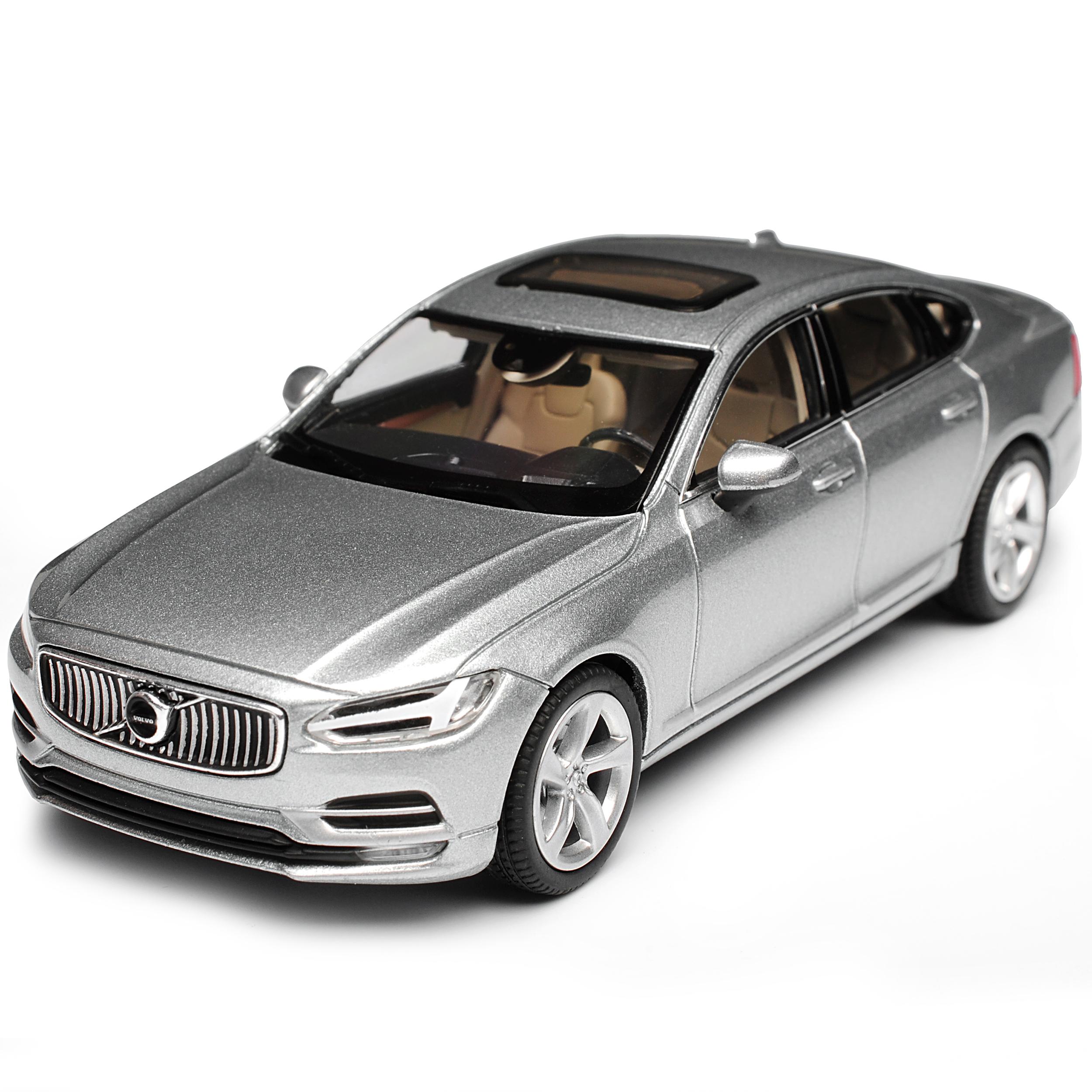 Volvo S90 plata plata plata eléctrica de sedán de 2015 1 43 Norev coche del modelo con o oh... ec6071