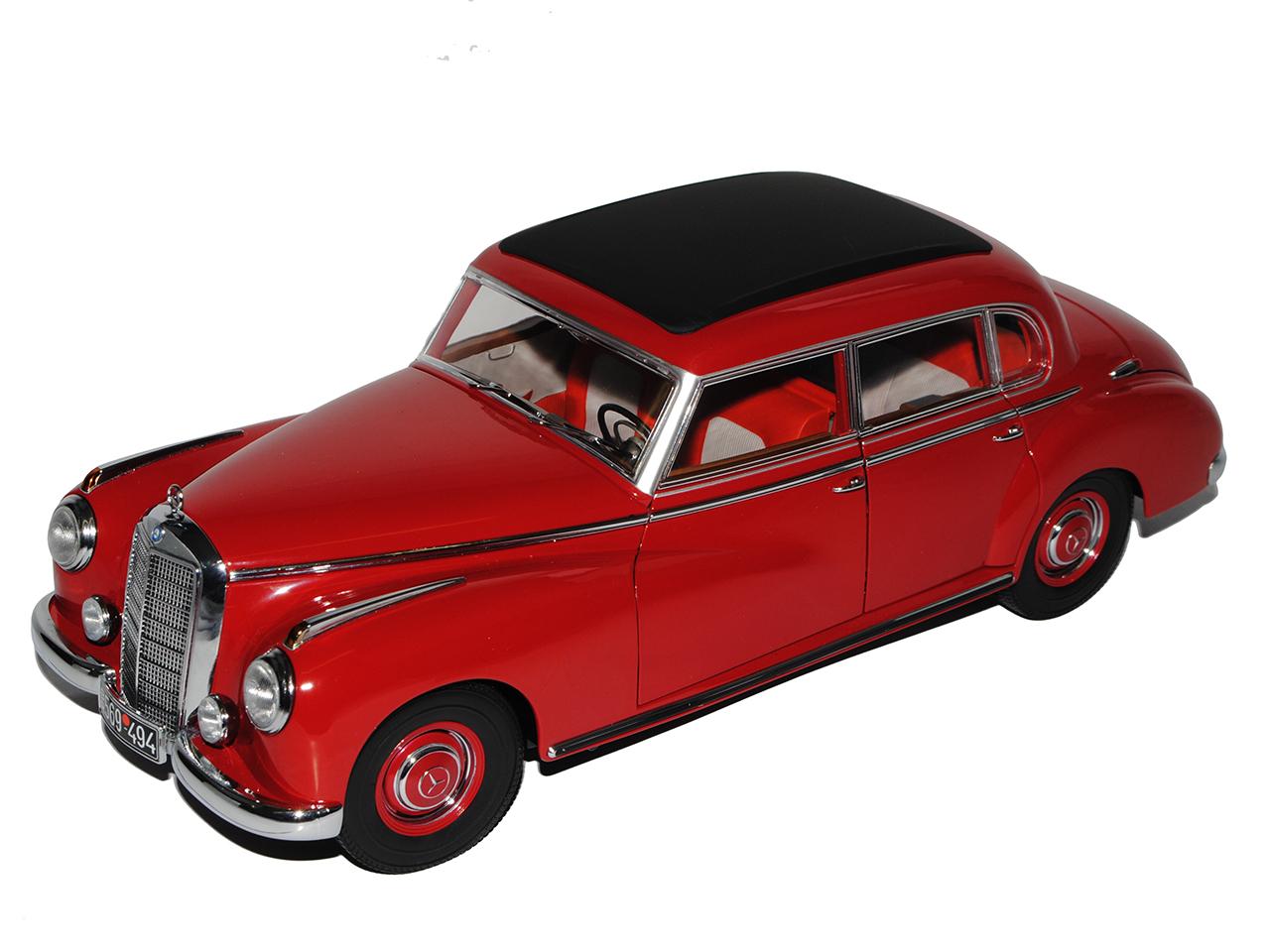 MERCEDES-BENZ 300 w186 ROSSO Adenauer BERLINA 1951-1957 1/18 NOREV modello modello modello auto  75177b