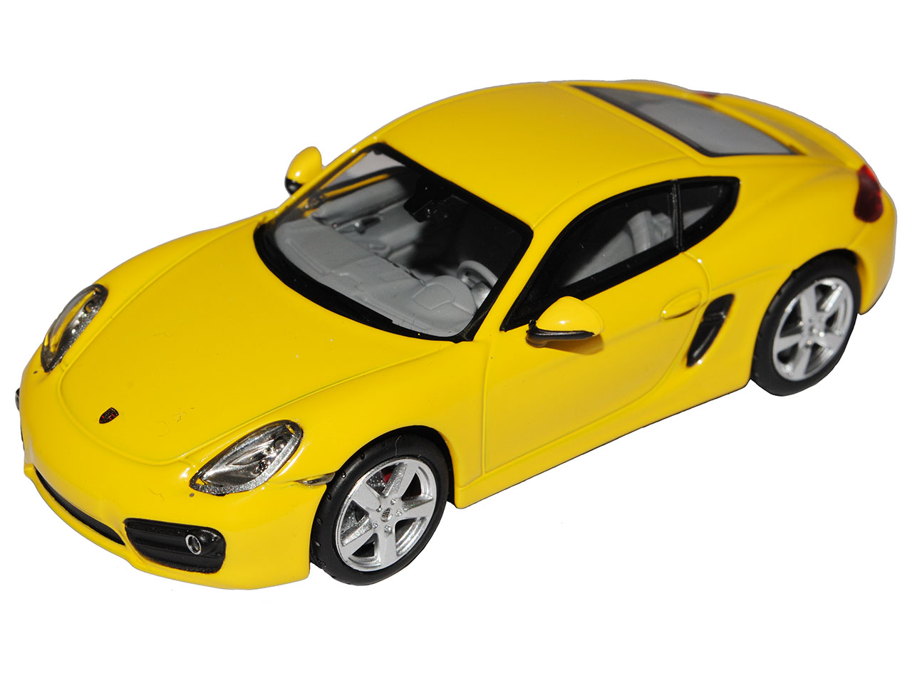 Porsche Cayman S Coupe 981 C yellow Ab Ab Ab 2013 1 43 Norev Modell Auto mit oder ohne.. 0eb59c