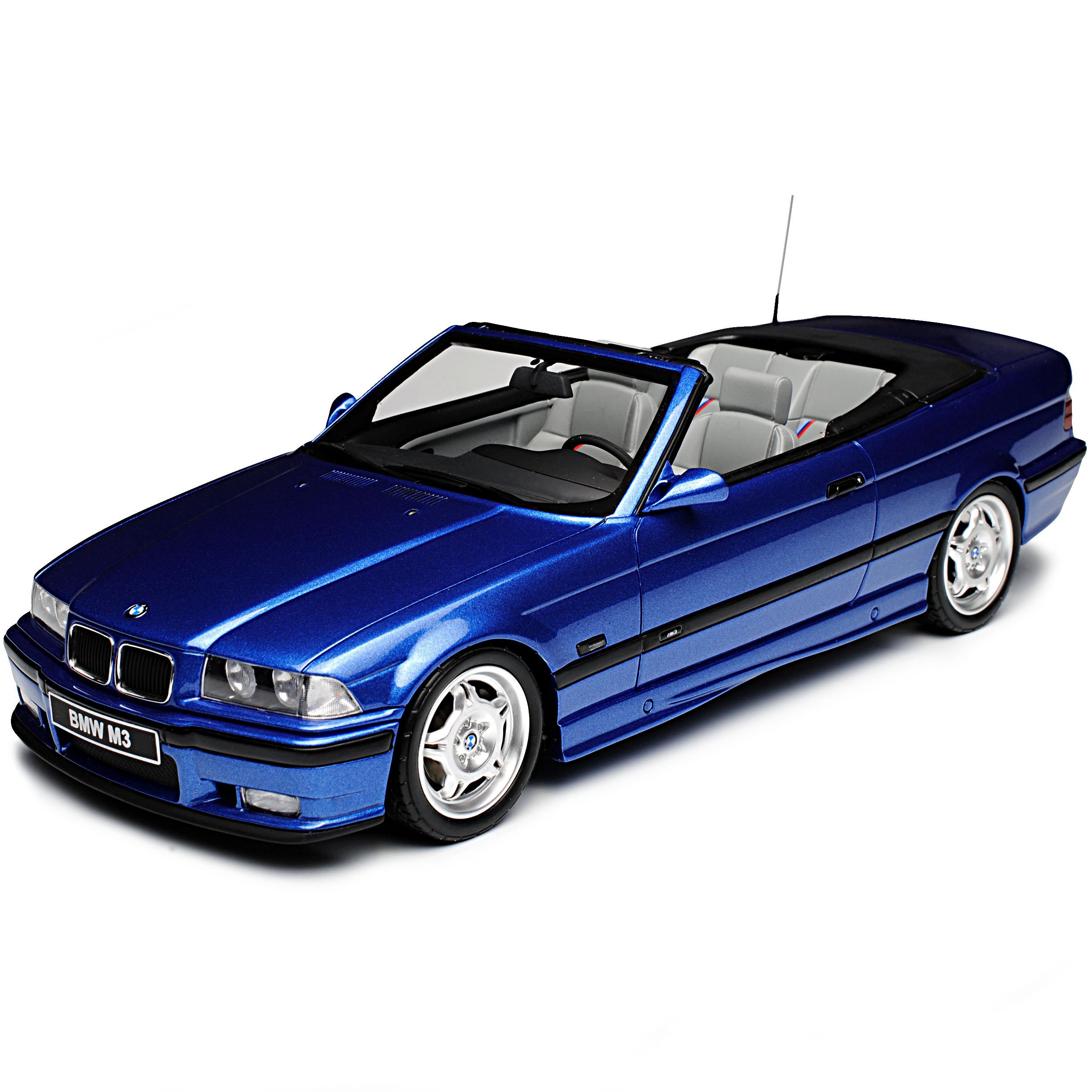 BMW 3er E36 M3 Convertible Blue 1990-2000 NR 279 1/18 Otto