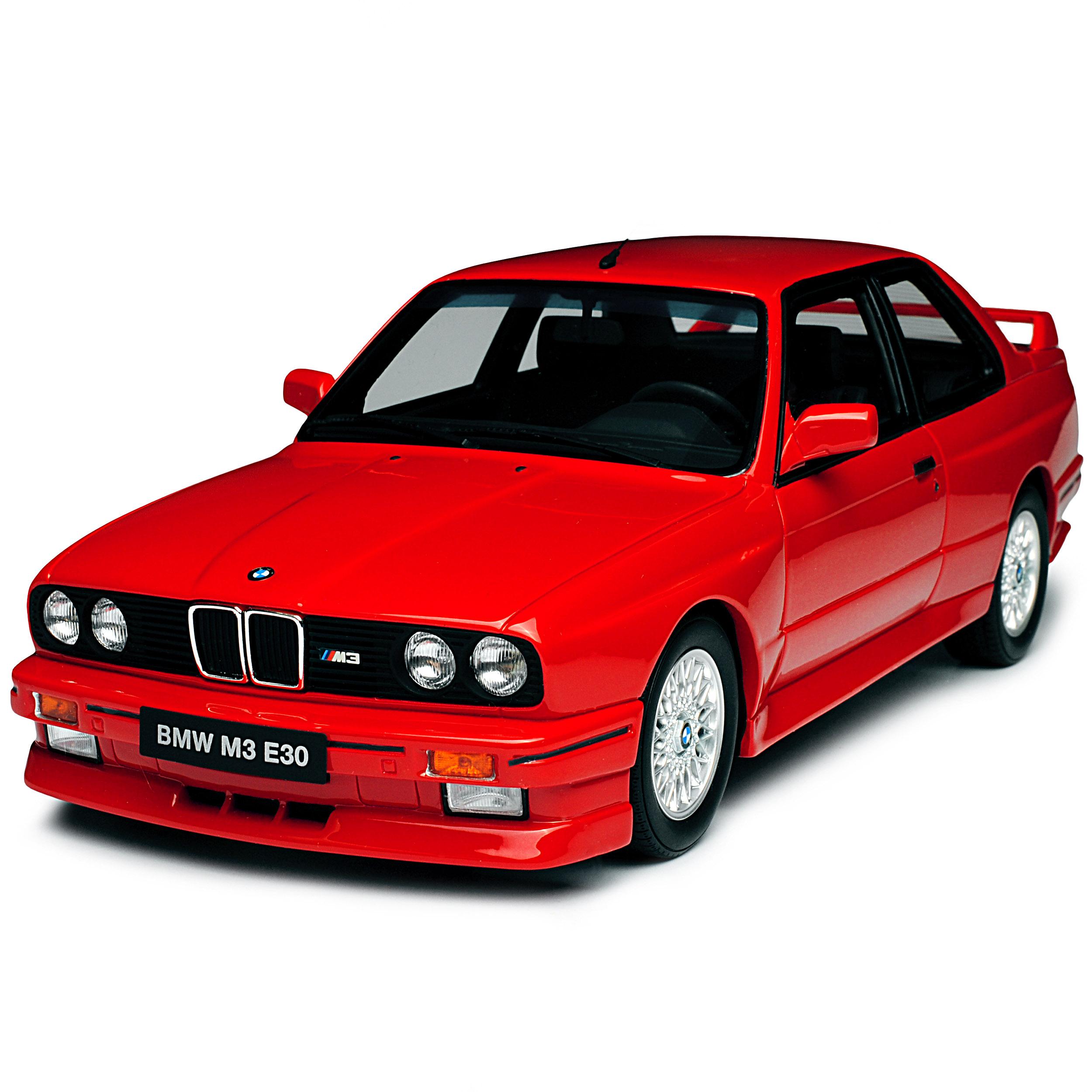 BMW BMW BMW 3er e30 m3 COUPE ROSSO 1982-1994 nr 695 1/18 otto mobile modello auto con ode  022402