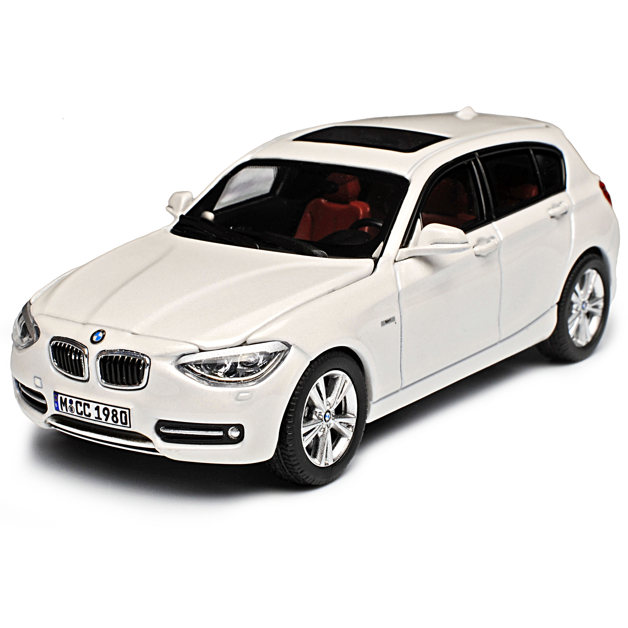 BMW 1er F20 Weiss 5 5 5 Türer Ab 2010 1 43 Jadi Paragon Modell Auto mit oder ohne .. eccfb9