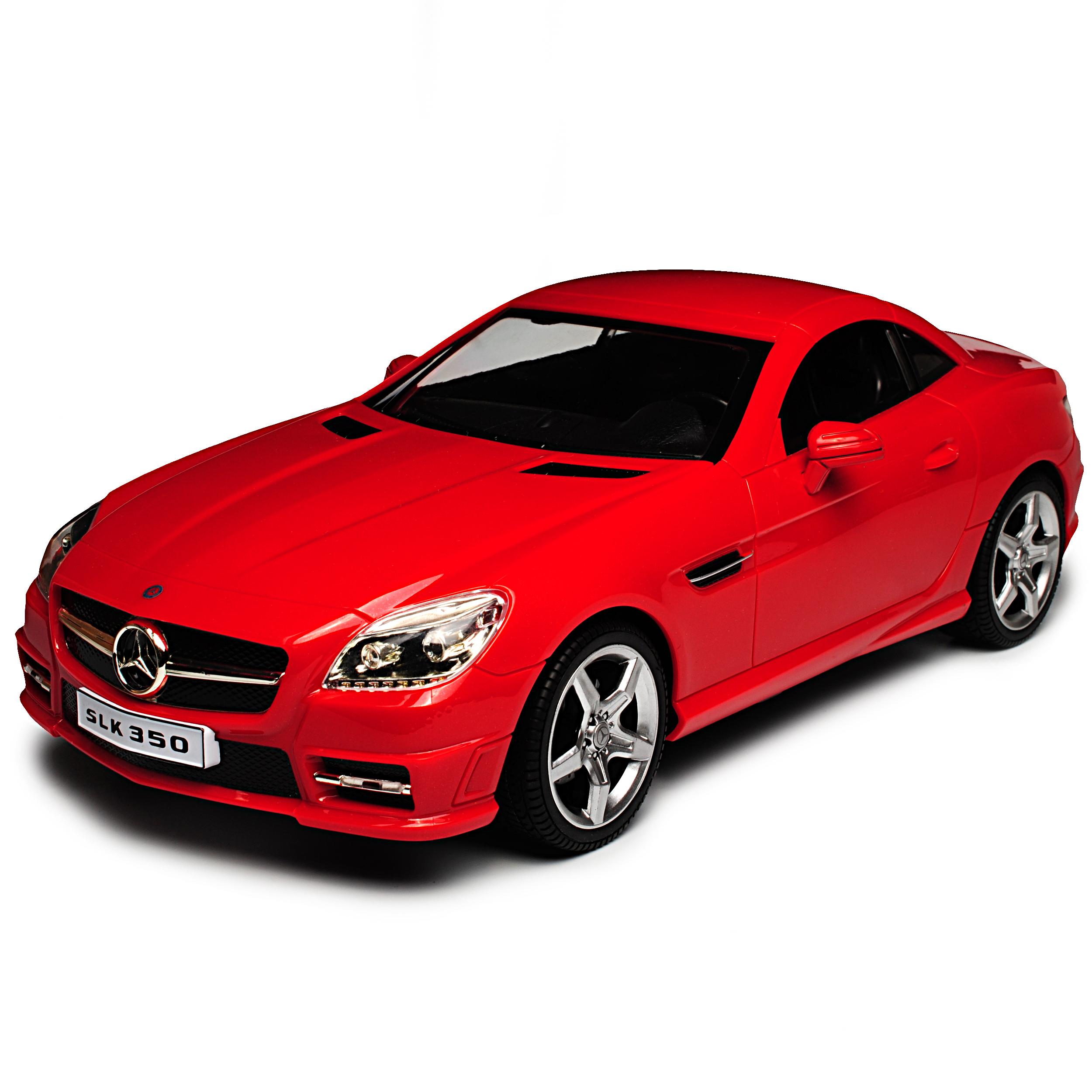 MERCEDES-BENZ SLK COUPE rosso a partire dal 2011-Set completo con Radio batteria-RC Radio con Auto-con... 5dd810