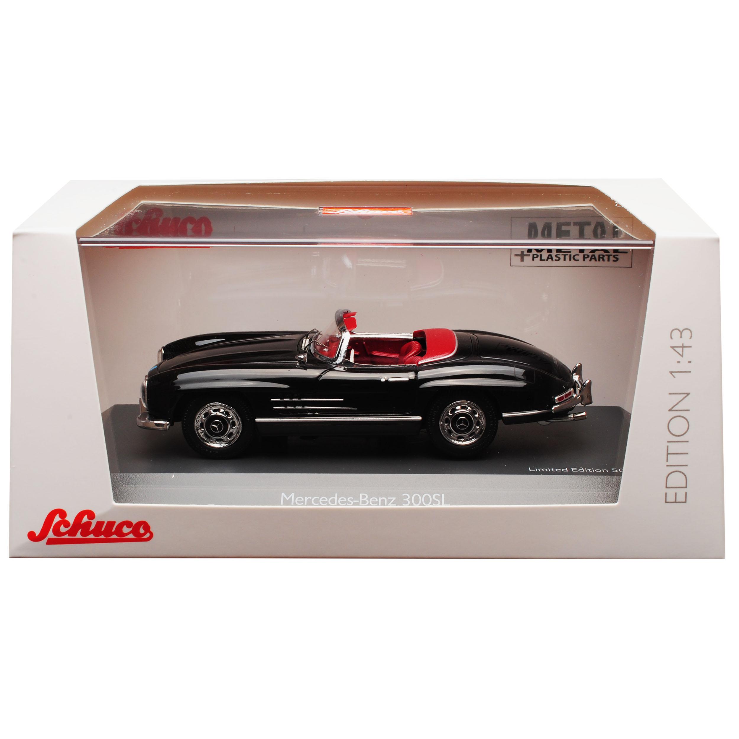 Mercedes-Benz 300sl Cabriolet Roadster Noir w198 1954-1963 1 43 43 43 SCHUCO Modèle... 32d8f6