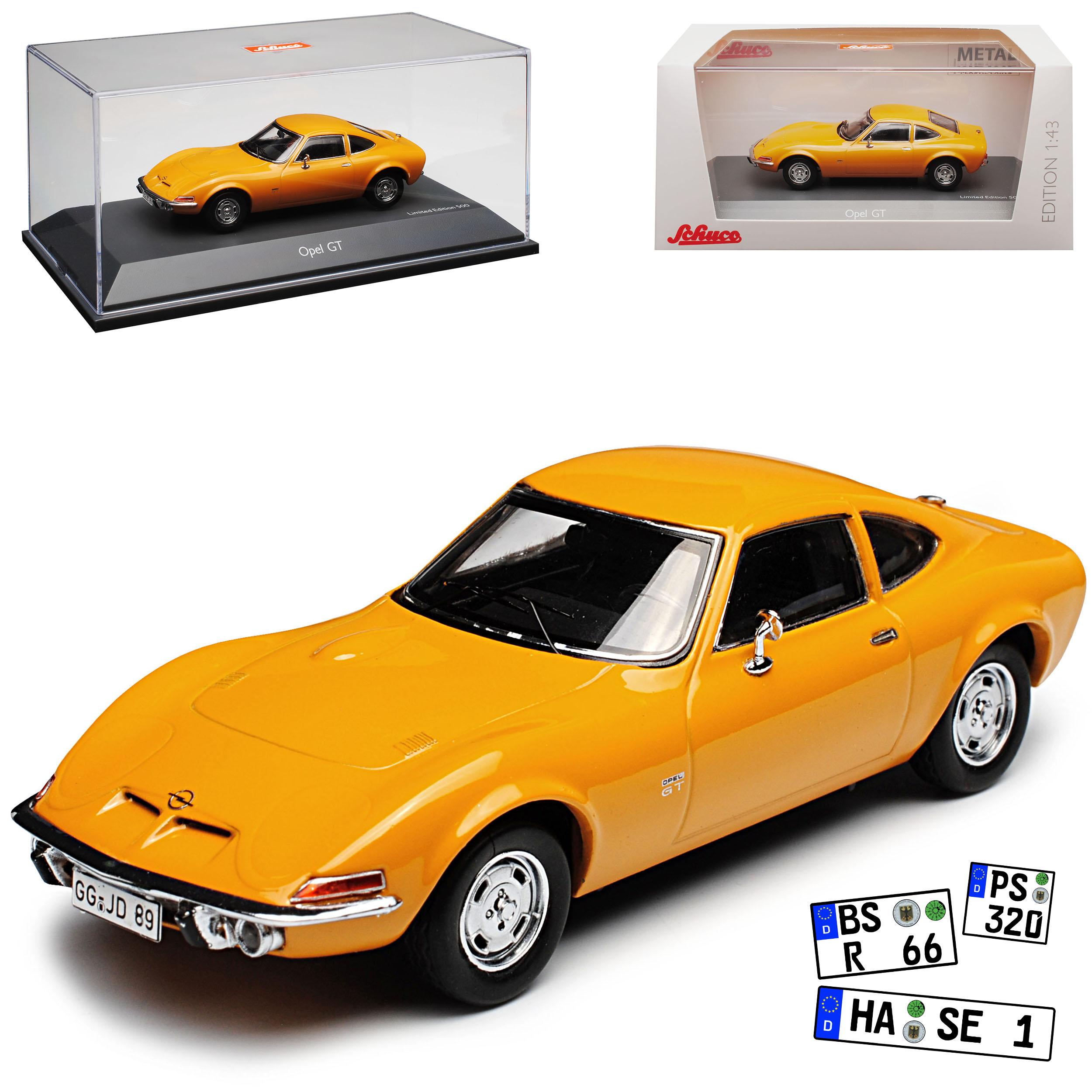 Opel GT Coupé Orange marron 1968-1973 1 43 SCHUCO modèle voiture avec ou sans ind...