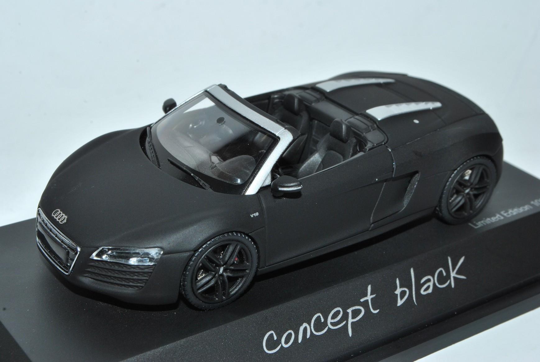 Audi R8 Cabrio Cabrio Cabrio Concept Matt Schwarz Facelift Ab 2012 1 43 Schuco Modell Auto m..  | Optimaler Preis  76774d