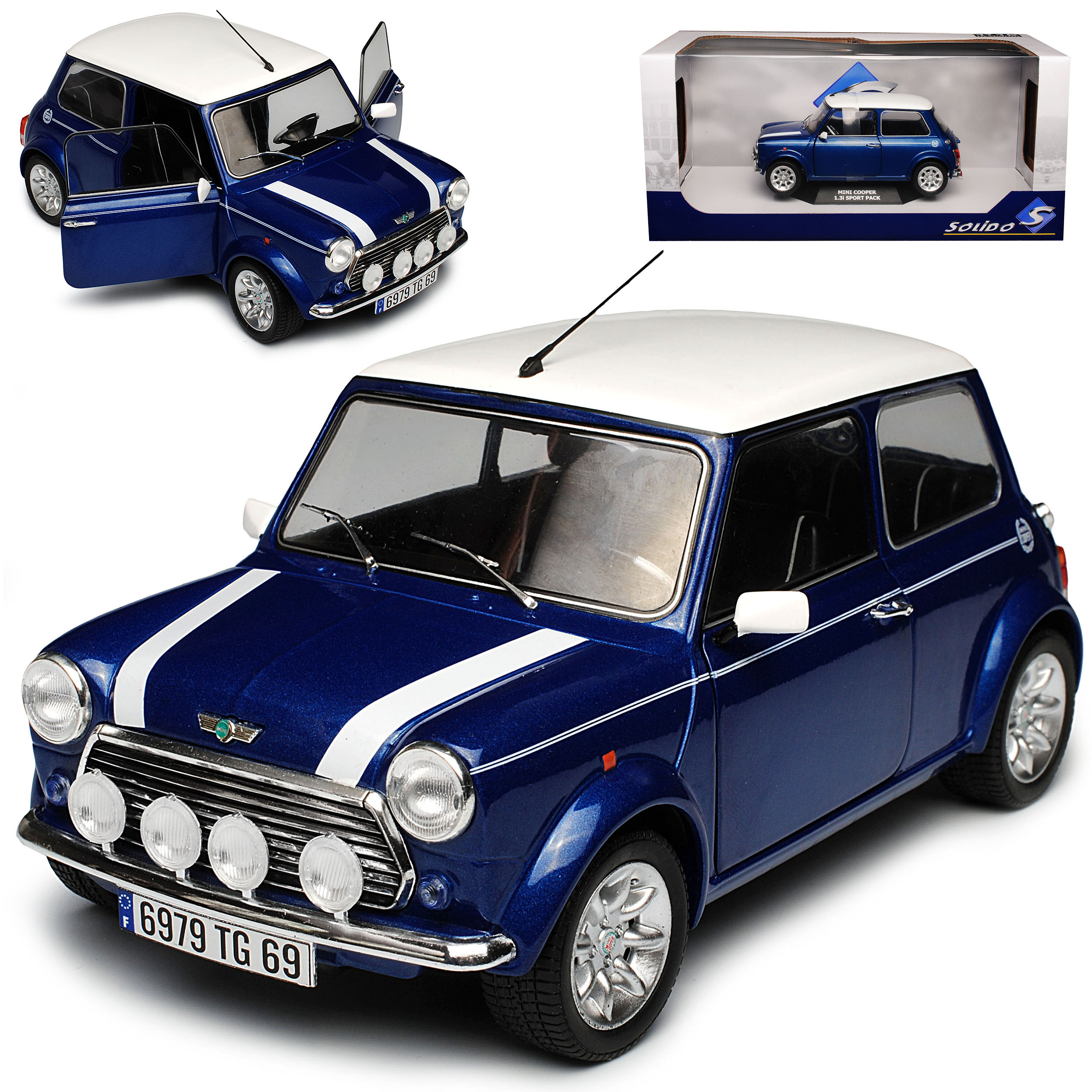 mini cooper sport pack altes ur modell blau mit. Black Bedroom Furniture Sets. Home Design Ideas