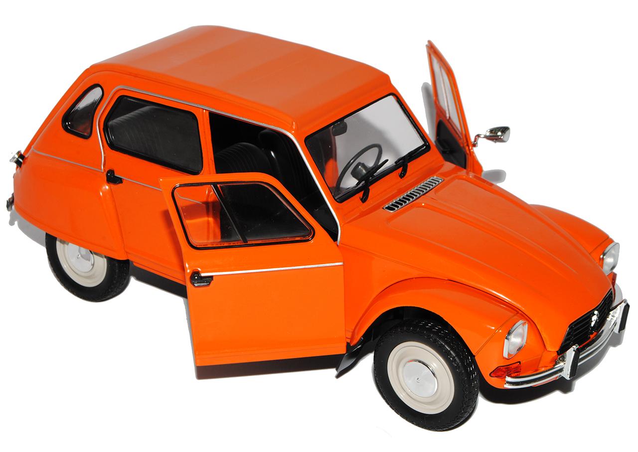 Citroen Dyane 6 orange 5 Türer 1967-1984 1 18 18 18 Solido Modell Auto mit oder ohne.. 6ff251