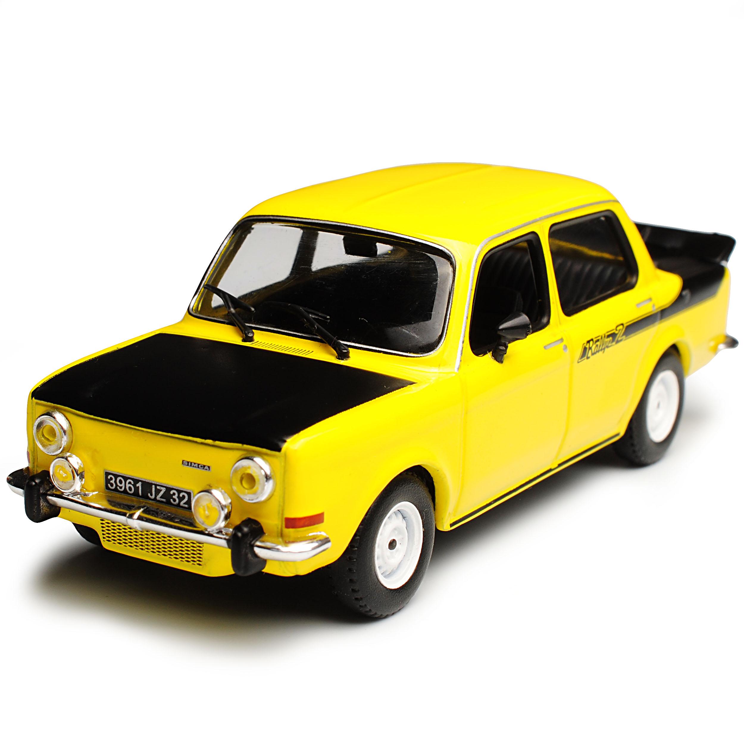 Simca 1000 rallye 2 limousine gelb 1974 1     43 solido modell - mit oder ohne. 646120