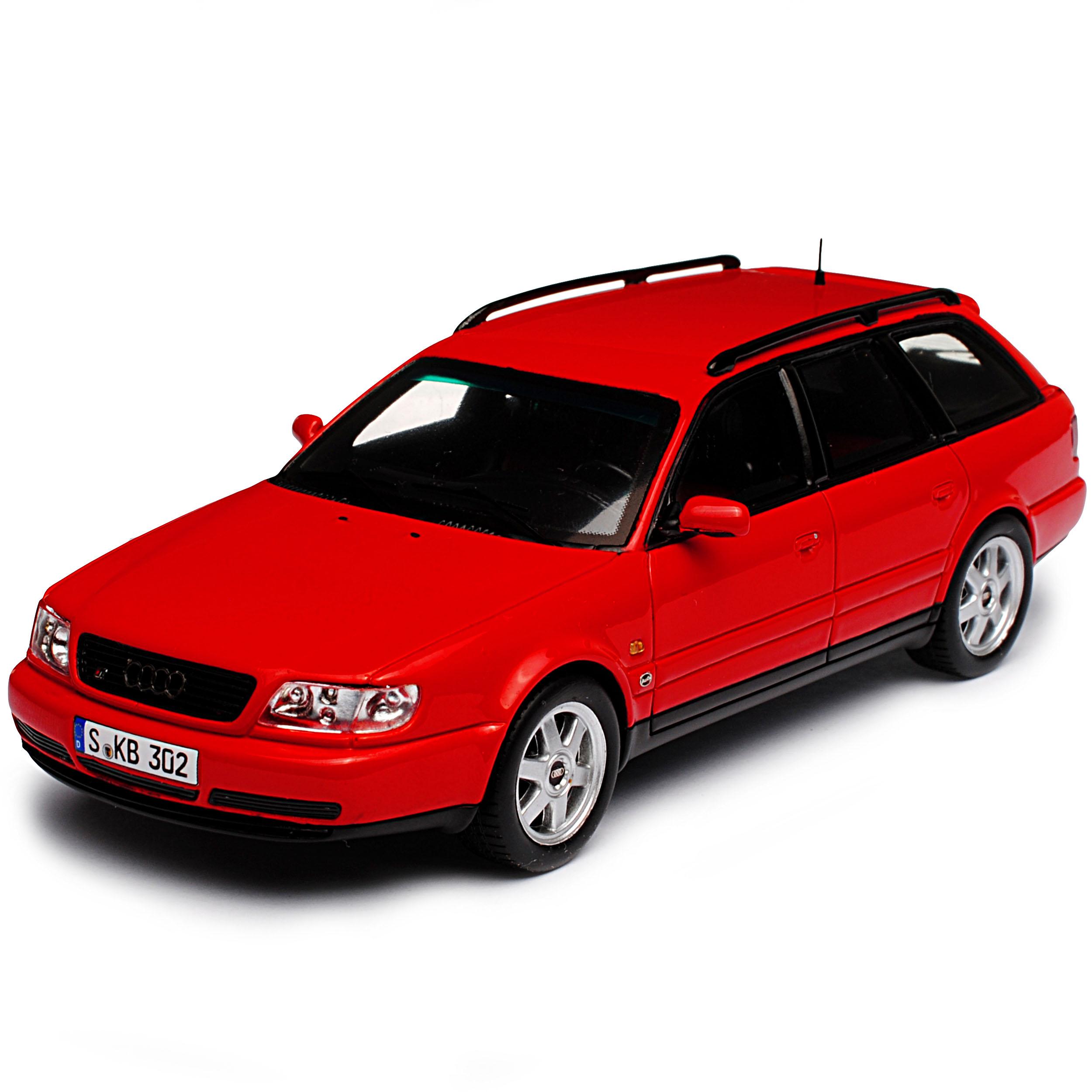 Audi 100 A6 C4 S6 Plus Avant Kombi Rot 4. Generation 1990-1997 1/43 Spark Mode.. | eBay