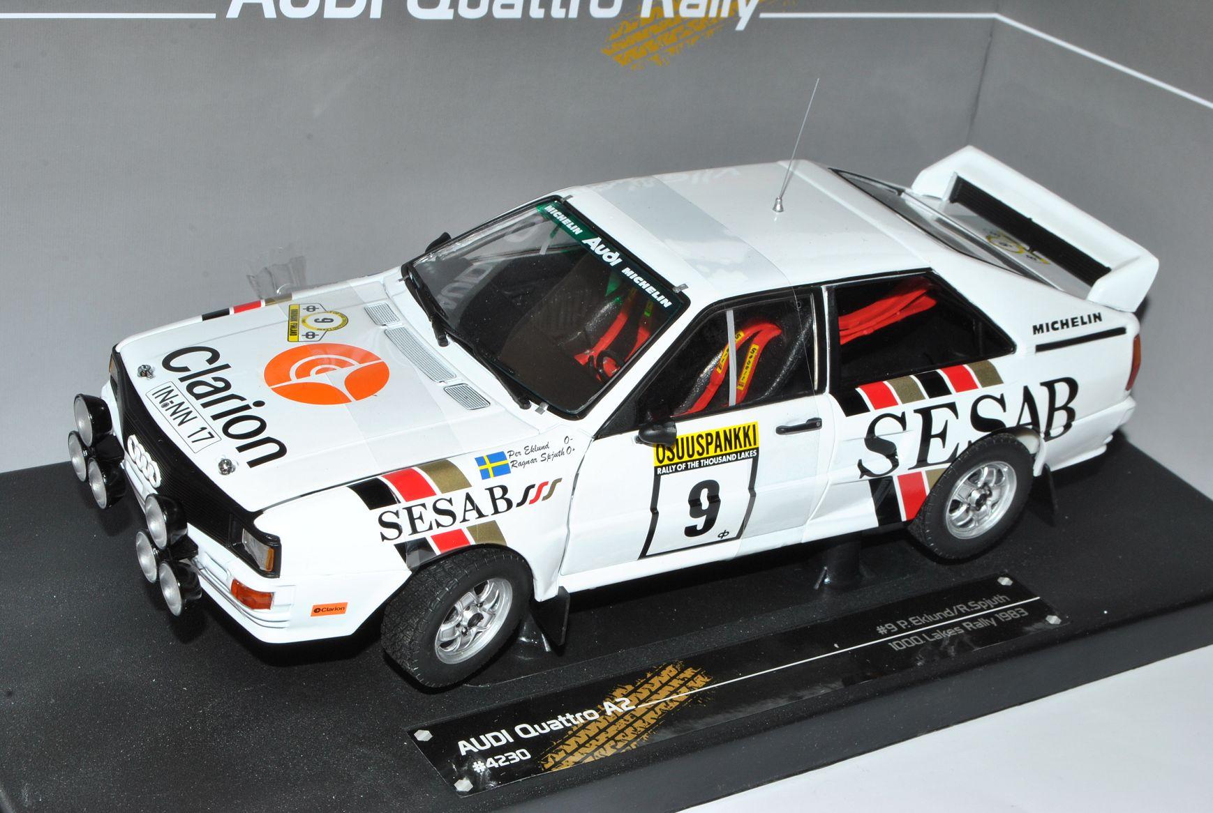 Audi Quattro A2 SESAB SESAB SESAB Nr 9 1000 Seen Rally 1983 Eklund Spjuth 1 18 Sun Star Mo.. 5b6f1d
