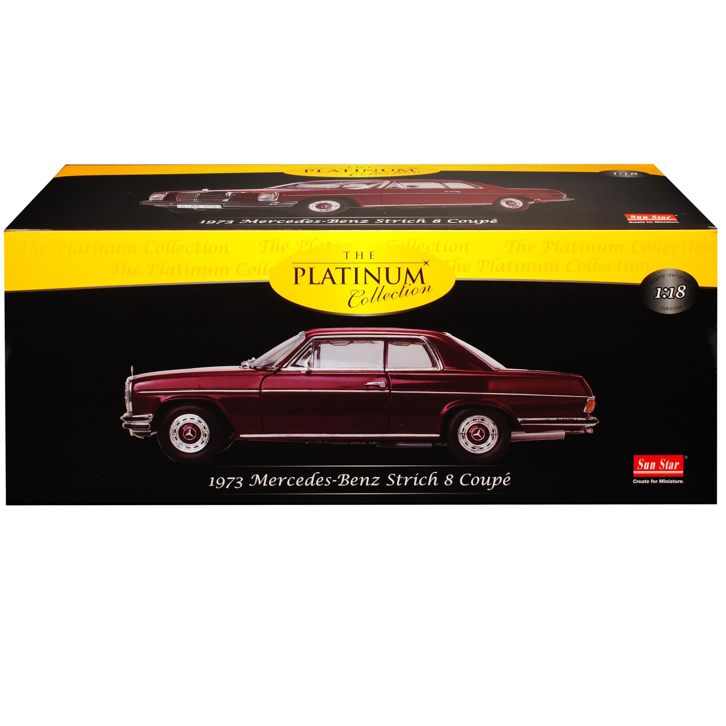 Mercedes-Benz-8-Strich-Acht-Coupe-Dunkel-Rot-W114-1967-1976-1-18-Sun-Star-Mod Indexbild 10