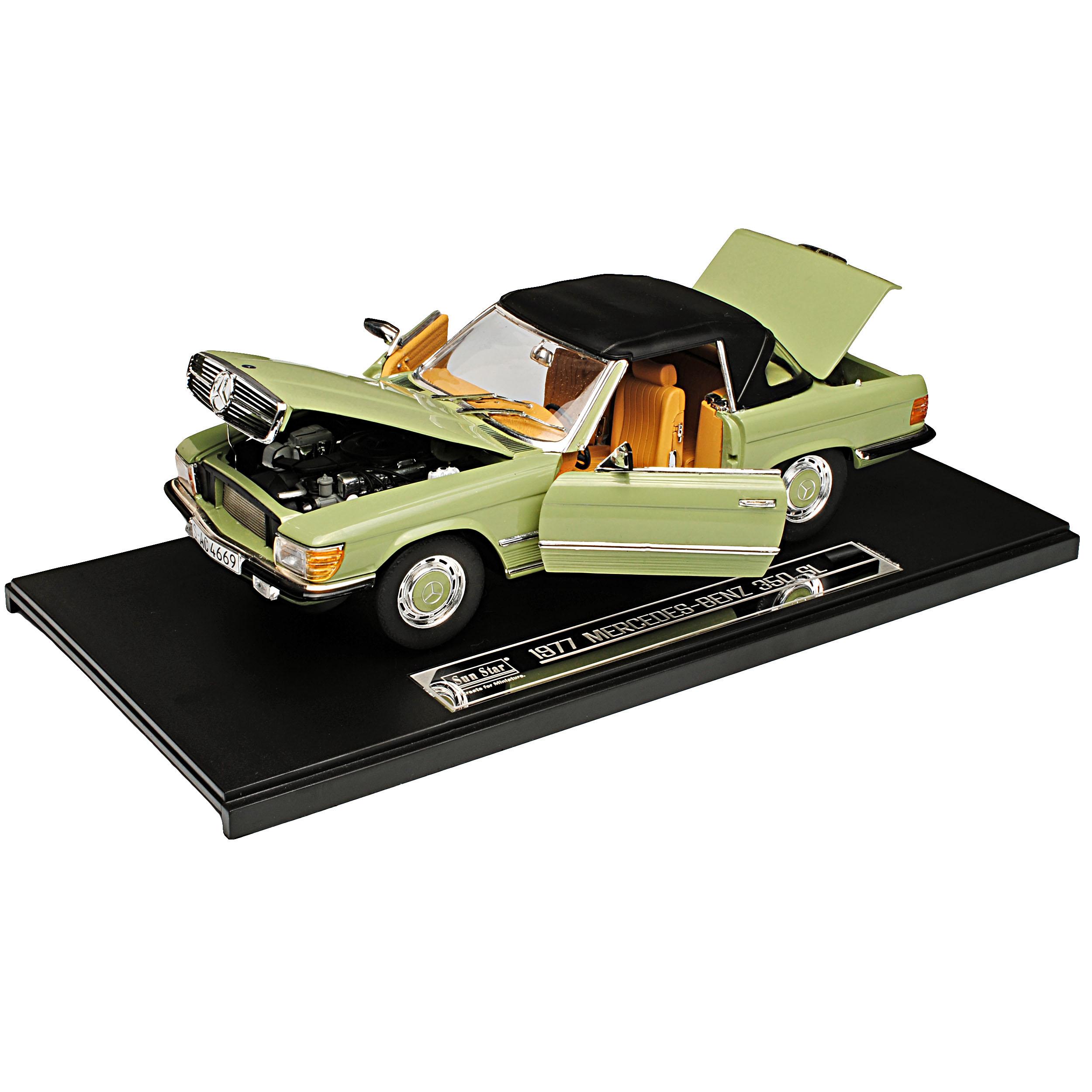Mercedes-Benz 350SL R107 Grün Cabrio Cabrio Cabrio mit Soft Top 1971-1989 1 18 Sun Star Mode.. 047be6