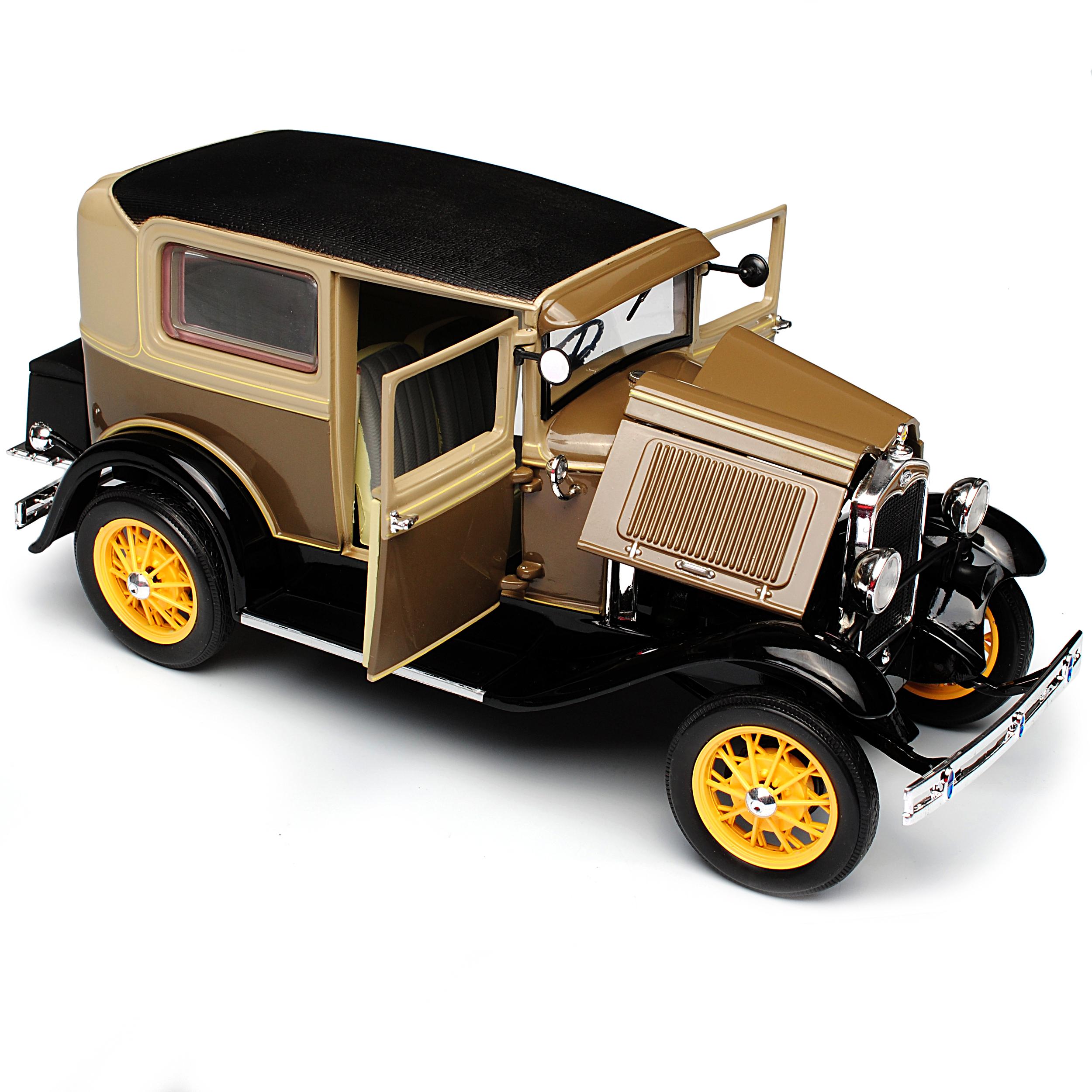 Ford Model A Limousine brown Beige Tudor 1928-1931 1 1 1 18 Sun Star Modell Auto m.. e420e6
