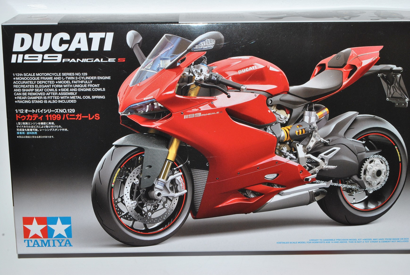 Ducati 1199 Panigale S red 14129 Kit Bausatz 1 1 1 12 Tamiya Modell Motorrad mit o.. d03820