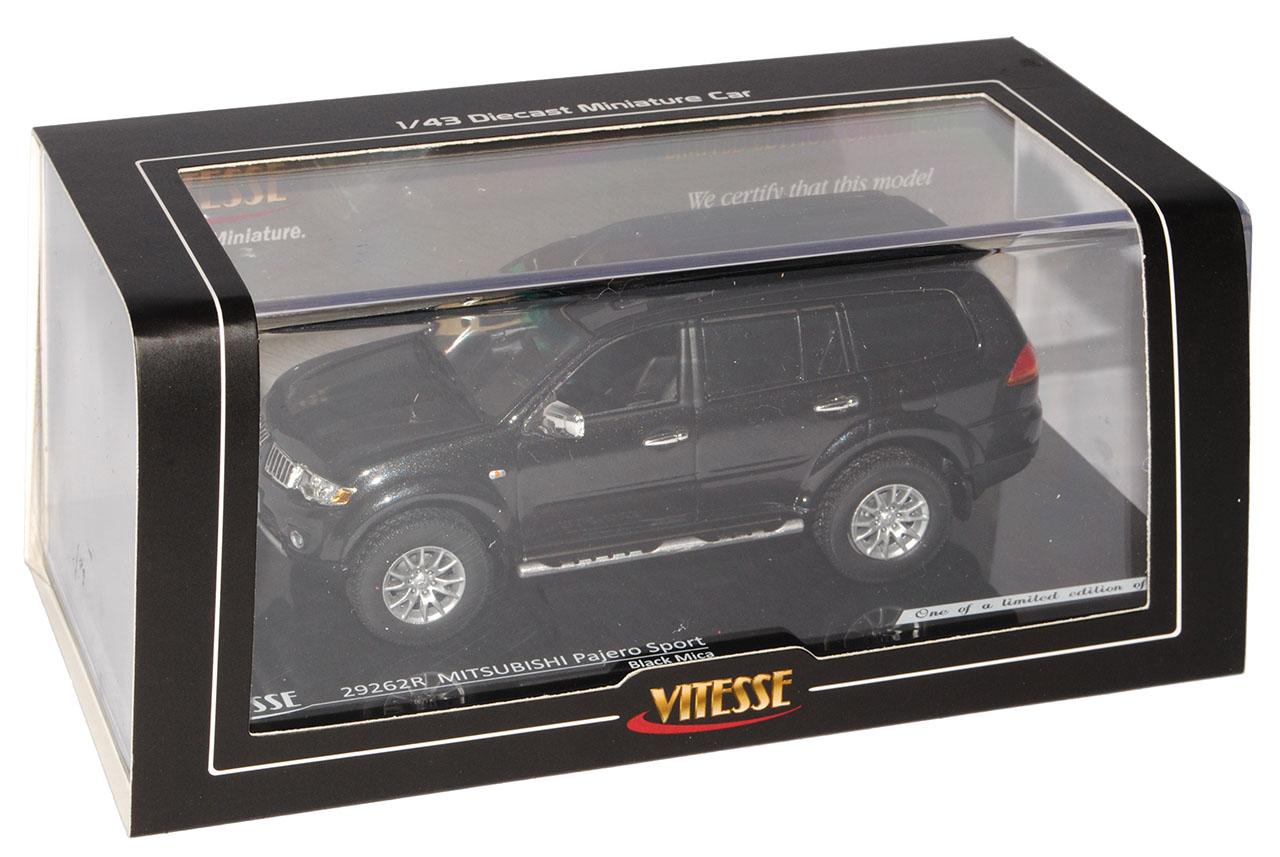Mitsubishi Pajero deporte negro de de de 2008 1 43 Vitesse modelos coches con o sin... 5e5dfd