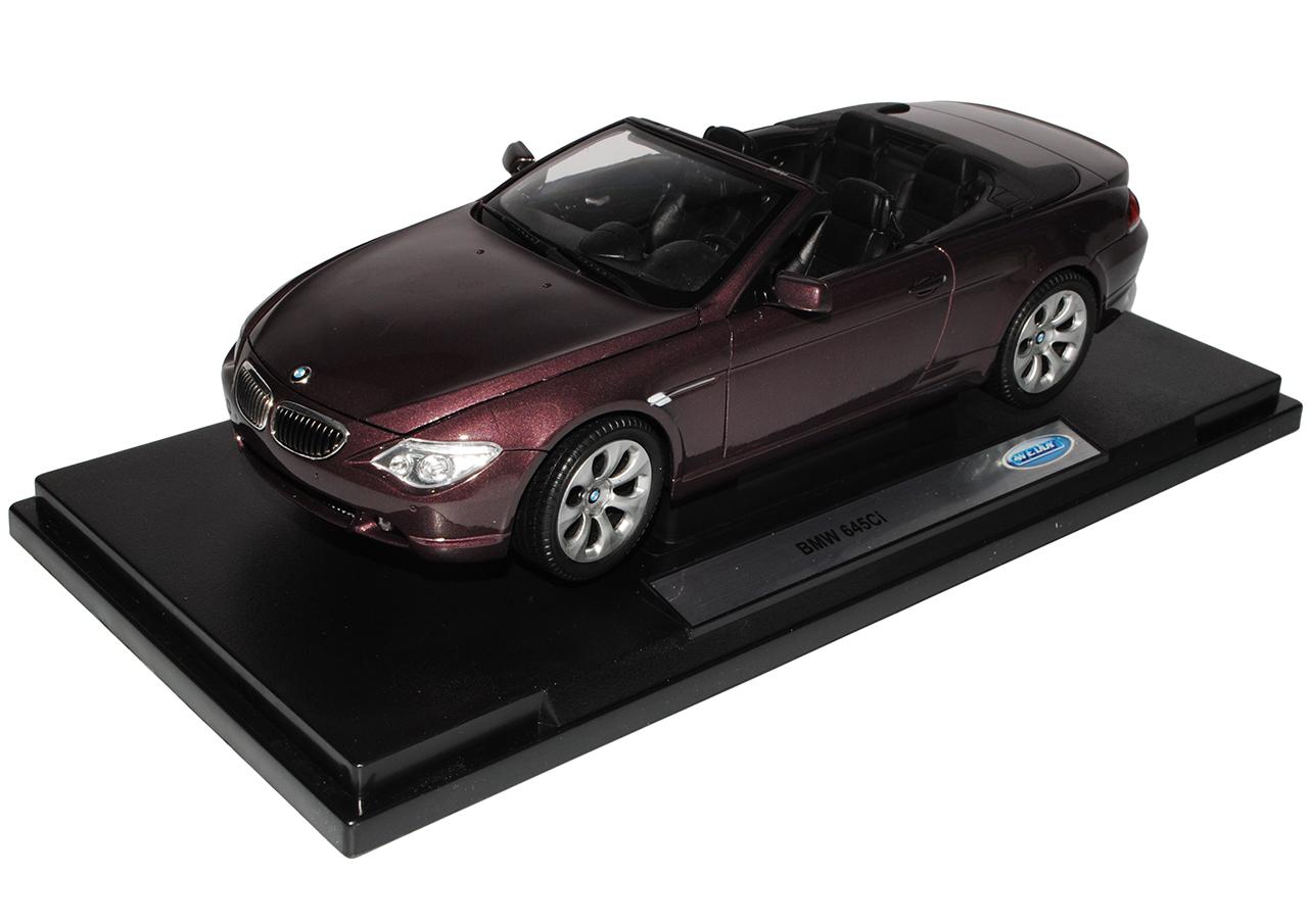 BMW 6er E64 645Ci Cabrio Burgund Burgund Burgund Rot 2003-2010 1 18 Welly Modell Auto mit oder..  | Passend In Der Farbe  515627