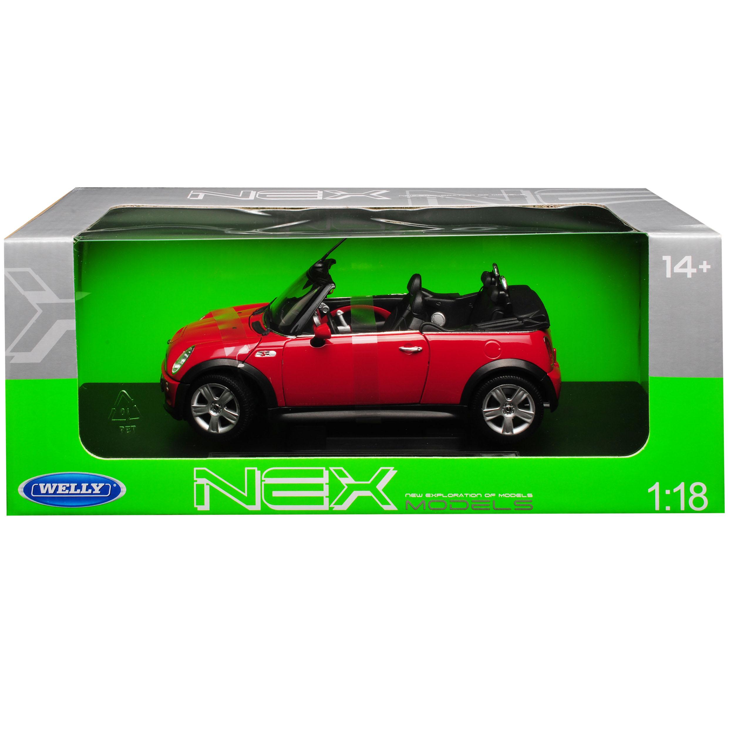 Mini Cooper S Cabrio Cabrio Cabrio red R52 2004-2008 1 18 Welly Modell Auto mit oder ohne in.. 6c014b