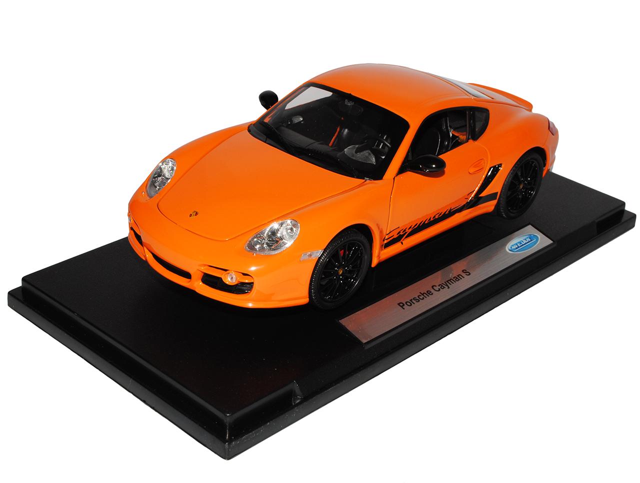 Porsche Cayman S 987C 987C 987C orange mit black Coupe 2005-2013 1 18 Welly Modell Aut.. c81368