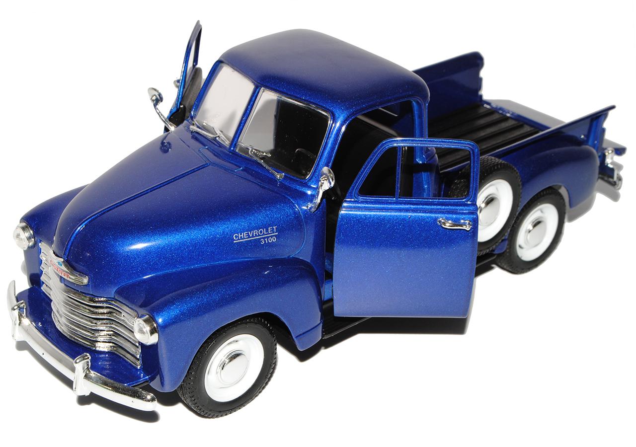 Chevrolet Chevy 3100 Pickup Blau 1953 1//24 Welly Modell Auto mit oder ohne ind..