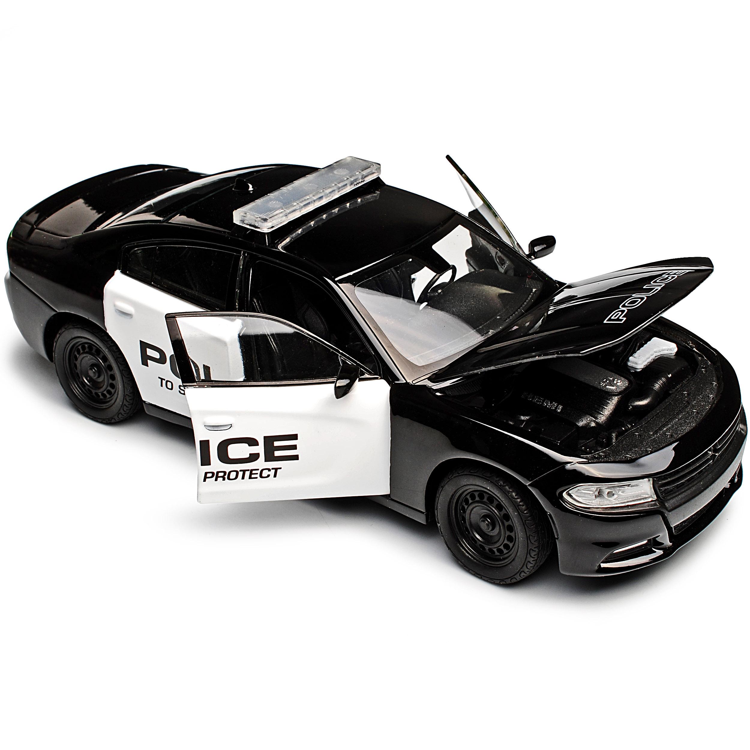 DODGE-CHARGER-R-T-Limousine-Police-Polizia-Nero-a-partire-dal-2016-1-24-Welly-A-modello miniatura 9