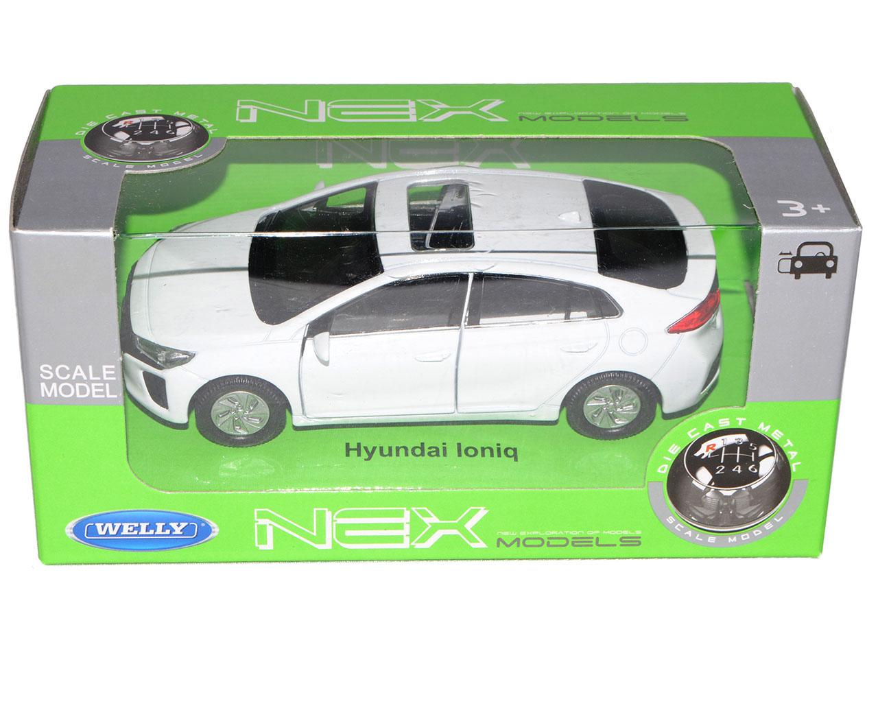 Hyundai-Ioniq-sedan-blanco-de-welly-2016-ca-1-43-1-36-1-46-modelo-de-coche-con miniatura 8
