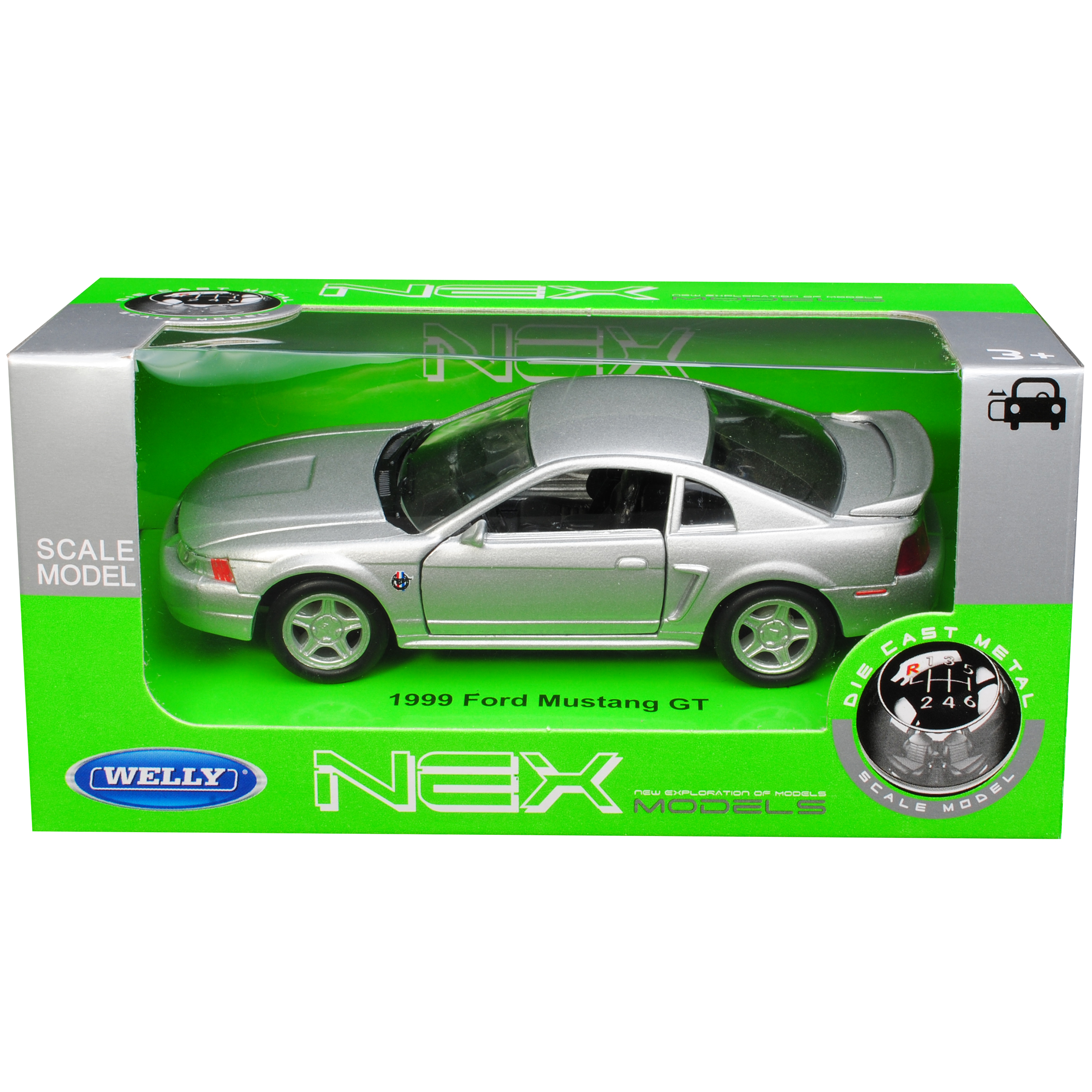 Version-de-plata-1994-2004-Ford-Mustang-IV-GT-coupe-de-cara-ascensor-1999-ca-1-43-1-3 miniatura 10