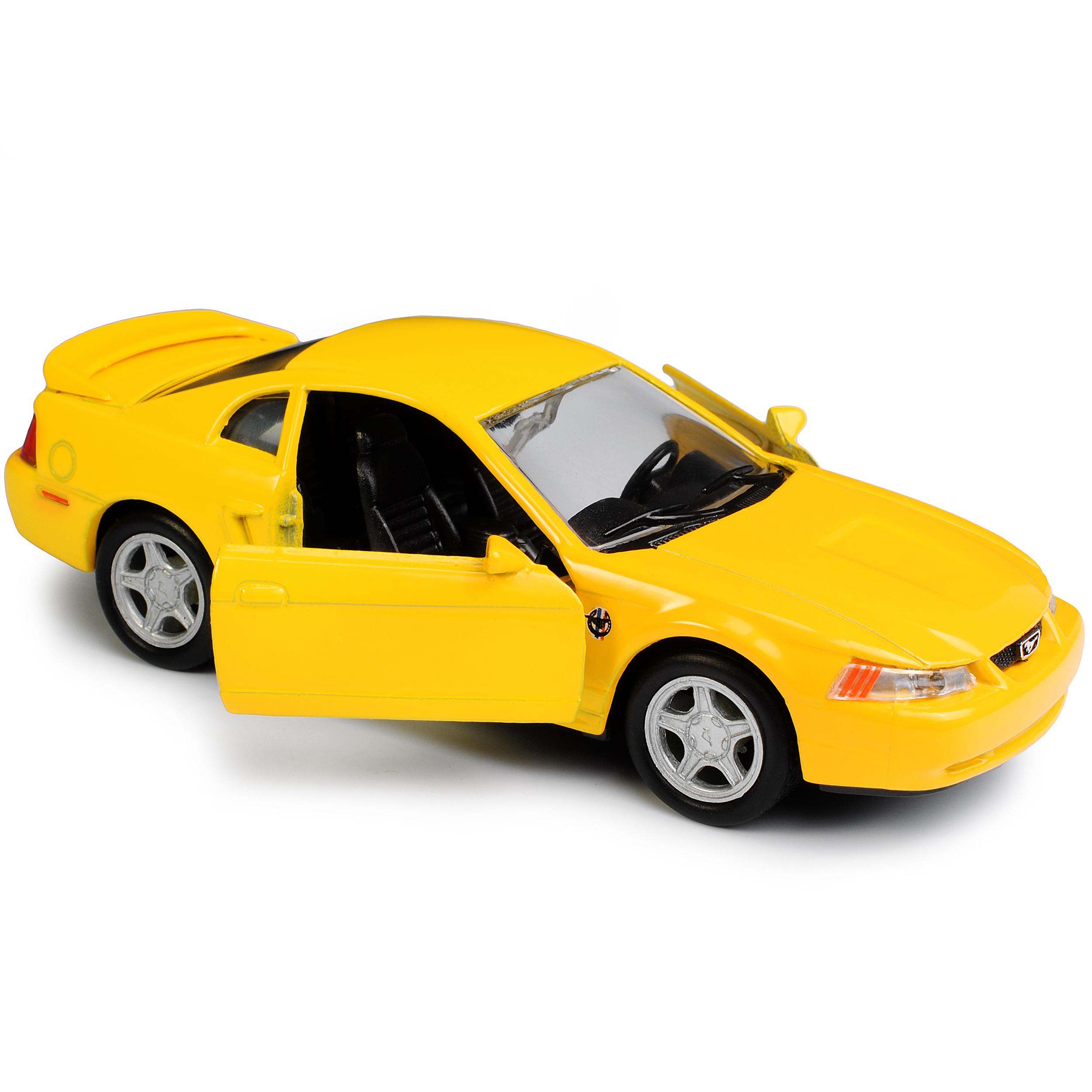 Version-de-amarillo-1994-2004-Ford-Mustang-IV-GT-coupe-de-cara-Levante-1999-ca-1-43-1-36 miniatura 9