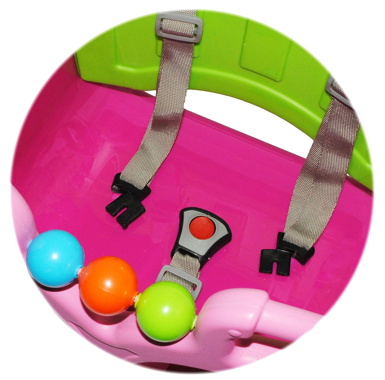 Babyschaukel-gitterschaukel-mitwachsend-amp-de-reequipar-con-cinturon-034-rosa-p miniatura 14